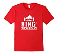 King Of Shenanigans Funny Bachelor Party Animal Drink Fun Shirts Red