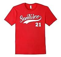 Santurce 21 Black Shirts Red