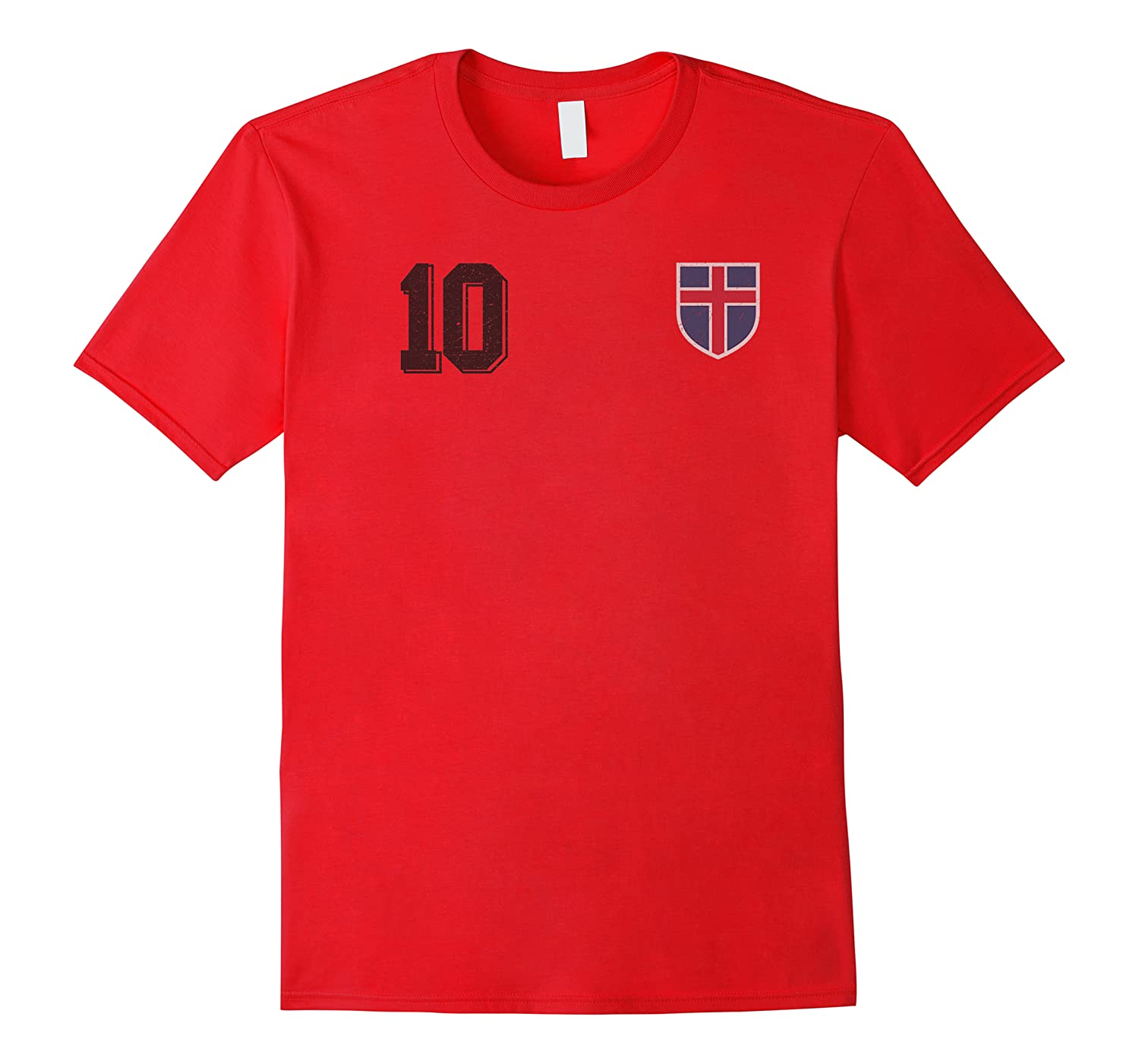 Iceland Or Island In Football Soccer Style Premium T-shirt