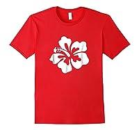 Hawaiian Hibiscus Flower Shirt Hawaii T Shirt Red