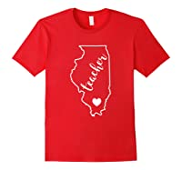 Tea Red For Ed Illinois Public Education T-shirt Red