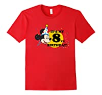 Mickey Mouse 8th Birthday Shirts Red
