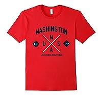 Retro Vintage Washington Shirts Red