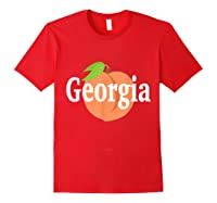 Georgia Peach State Pride Southern Roots T Shirt Red