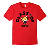 Aggretsuko Class Of 2019 Graduation Graduate T-shirt Red