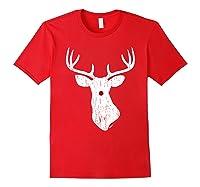 Vintage Christmas Reindeer T Shirt Red