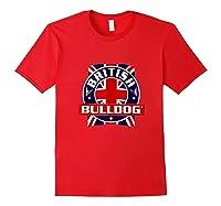 British Bulldog Flag Graphic Shirts Red