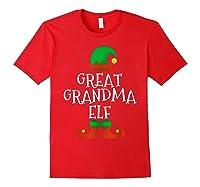 Great Grandma Elf Christmas Funny Xmas Gift Shirts Red