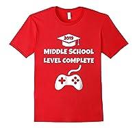 Funny Middle School Graduation Video Gamer Tshirt Red
