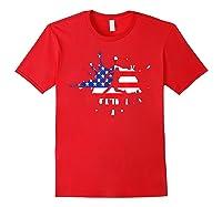 Baseball League Game Usa Flag American National Team Player Shirts Red