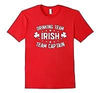 Irish Drinking Team, Team Captain T-shirt Red