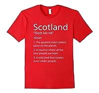 Scotland Definition Funny Scottish Scotland Shirts Red