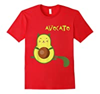 Avocato Funny Cute Cat Gift For Vegan Shirts Red