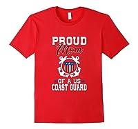 Proud Us Coast Guard Mom Shirts Red
