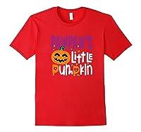 Pawpaw's Little Pumpkin Halloween Cute Pumpkin Gifts Shirts Red