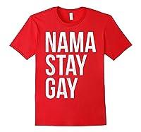 Namaste Gay Lgbt Pride Parade T Shirt Red