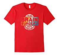 Brain Surgery Shirt Survivor Post Cancer Tumor Recovery Gift Red
