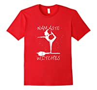 Namaste Witches Halloween Yoga T-shirt Red