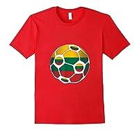 Lithuania Flag Soccer Ball Team Fan Shirt Red