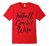 Football Coach\\\'s Wife Shirt Vintage Proud Spouse Tee Red