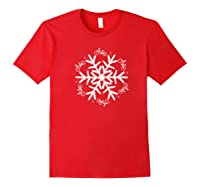 Cycling Christmas Snowflake Pattern Shirts Red