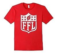 Fantasy Football Retro Distressed Ffl Logo Champion Gift Shirts Red