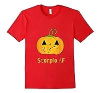 Scorpio Af Zodiac Constellation T-shirt Red