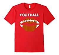 Football Text Sports Football Laces Lip Sporty Shirts Red