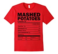 Mashed Potato Nutrition Funny Matching Christmas Costume Shirts Red