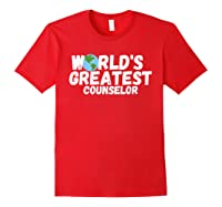 World's Greatest Counselor Gift Shirts Red