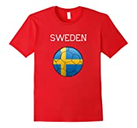 Sweden 2018 Soccer Fan, Swedish Football Shirts Red