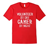 Volunteer By Day Gamer By Night Premium T-shirt Red