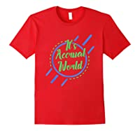 Funny Cpa Accountant Accrual Shirts Red