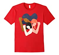 Girls And Unity Power In Diversity Feminist Shirts Red