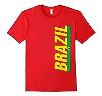 Brazil T-shirt Brazilian Flag Brasil Gift Souvenir Camiseta Red