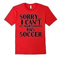 Grandpa Grandma | My Granddaughter Has Soccer T-shirt Red