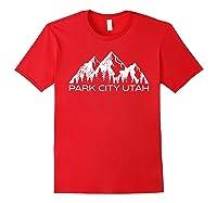 Park City Utah Mountain Souvenir Gift   Cool Park City Utah T-shirt Red