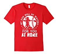Baseball Mom Apparel Baseball Dad Merchandise Premium T-shirt Red