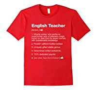 English Tea Definition Meaning Funny T-shirt Red