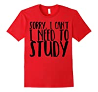 Funny Studying Shirt Finals Week College Student Study Gift Red