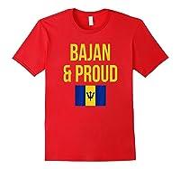 Bajan Proud Barbados Flag Caribbean Shirts Red