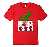Brother Dragon Christmas Shirt Matching Family Tribe Son Boy T-shirt Red