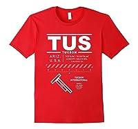 Tucson International Airport Arizona Tus T-shirt Red
