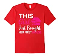 Funny Homeowner Gift - Bought Her First House T-shirt Red