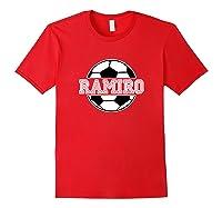 Soccer Boy Ramiro Birthday Soccer Ball Name Shirts Red