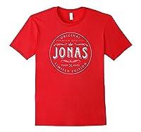 Jonas Vintage Classic Circular Design Shirts Red