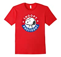 Peanuts Snoopy For President Shirts Red