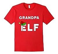 Matching Christmas Elf Grandpa Elf Shirts Red