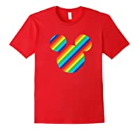 Mickey Mouse Rainbow Icon Shirts Red