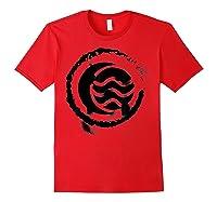 Nickelodeon The Legend Of Korra Bw Water Elet Logo Shirts Red